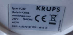 Krups Ovomat - Made in China
